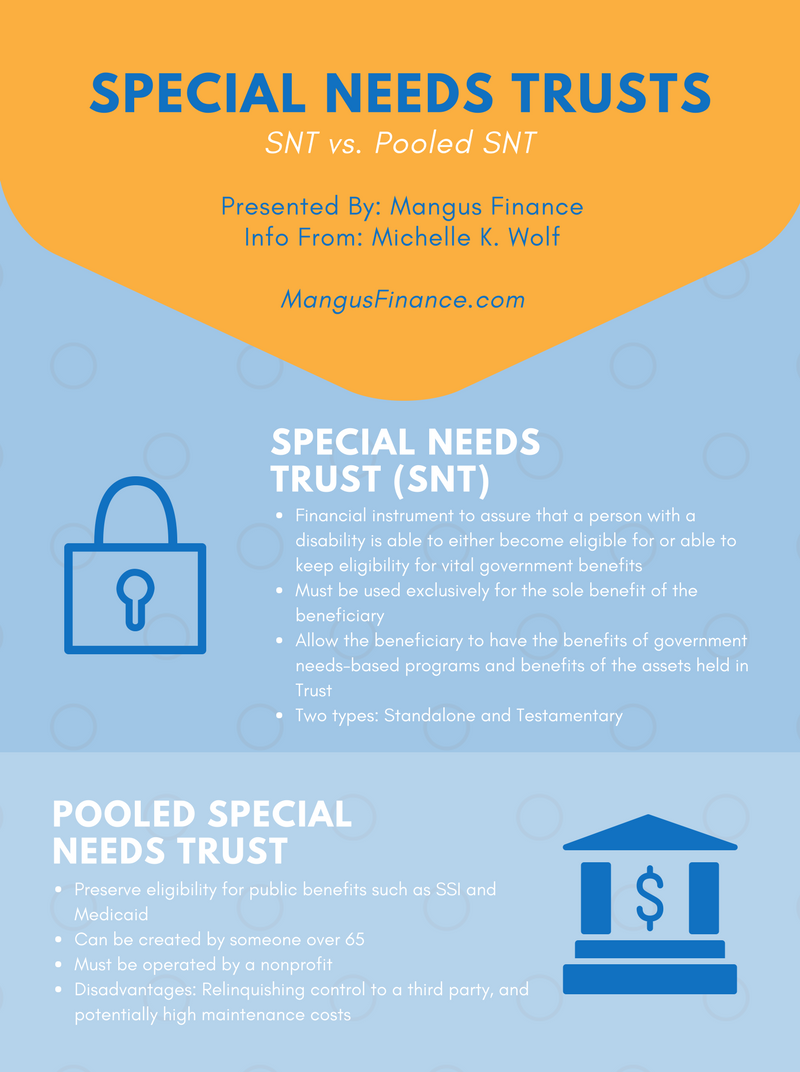 special needs trusts trust estate plan planning pooled pool snt personal finance